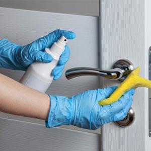 Door Knob Cleaning
